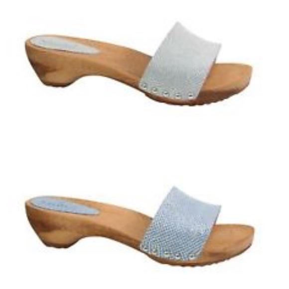 204f56c60225f Sanita Slide Clog Sandals with Flower Cutouts
